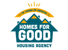 Homes for Good Housing Agency logo for carousel logos on home page